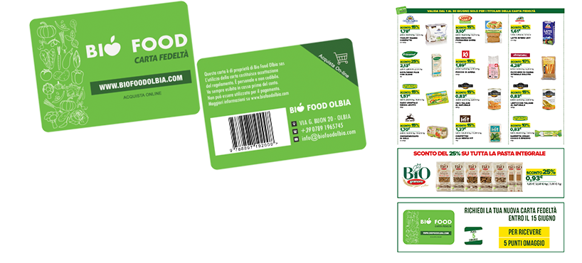 "<a href=""http://www.biofoodolbia.com/carta-fedelta"">Bio Food Fidelity Card</a> to get exclusive discounts</p>